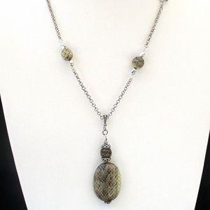 Snakeskin Pattern Pendant Necklace
